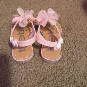 BEBE light pink sandals toddler girl